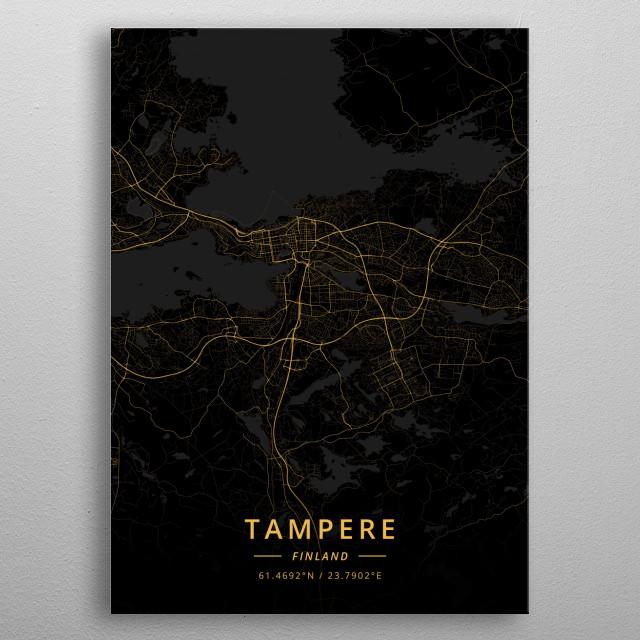 Tampere, Finland metal poster