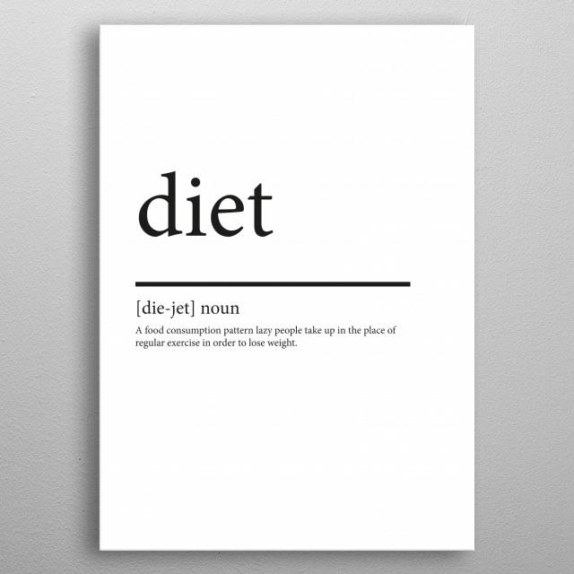Diet synonym  metal poster