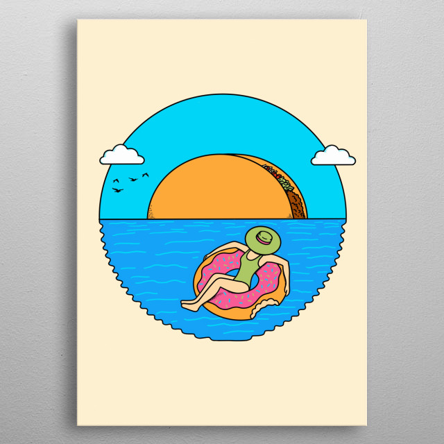 The taco sun is perfect in this landscape. Inspired by the taco and nature. metal poster