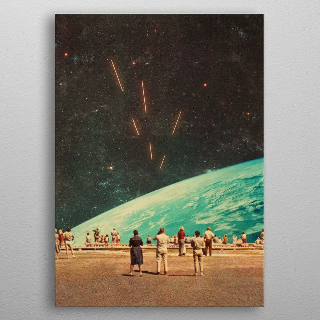We didn't know they were coming. We do not know what their intentions are. But it won't be long until we find out. Digital Vintage Collage metal poster