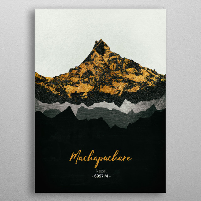 A collection of the most iconic mountains in the world. metal poster