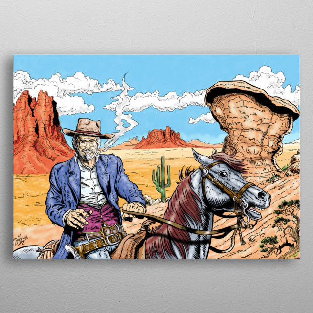 This art work is a sample about western style comic panel. I can draw and paint anyone in western world as you wish as.  metal poster