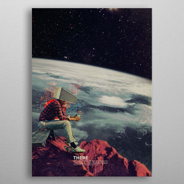 Figuring Out Ways To Escape Stop now and see all the new colors around you. Digital Vintage Collage metal poster