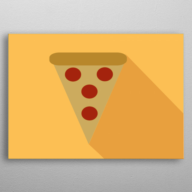 A pizza is delicious and a whole work of art is always worth it, it's just the best fast food. metal poster