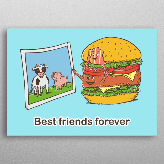 Best friend forever metal poster