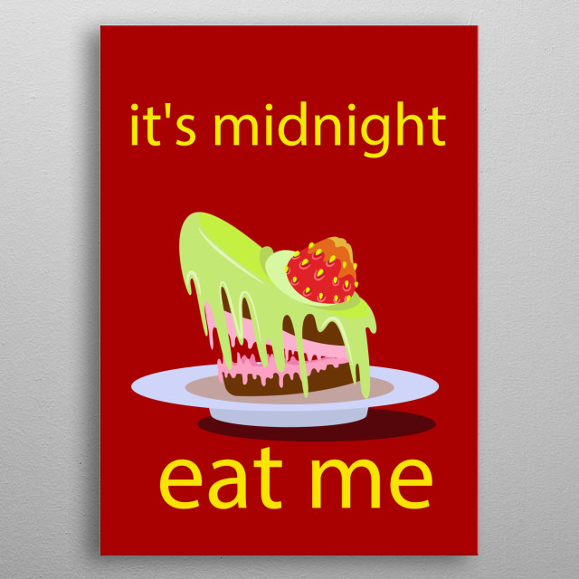 all cakes are very angry metal poster
