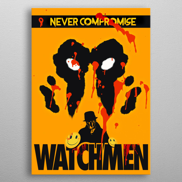 The new HBO series reboot of the Watchmen comics is around the corner. So its time to get back to this design game. metal poster