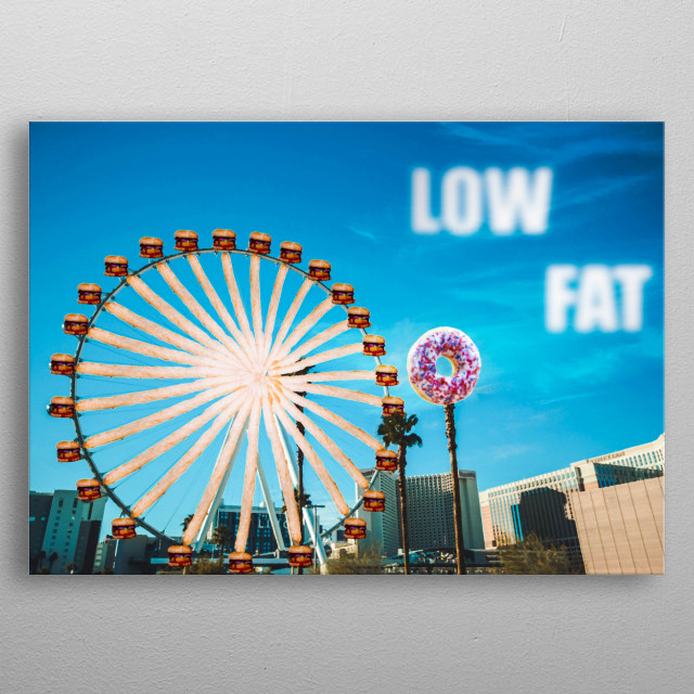 The amusement park made by foods  metal poster