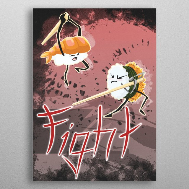 who´s ready for a fight food???  metal poster