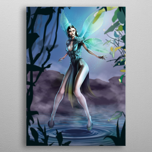 forest sprite metal poster