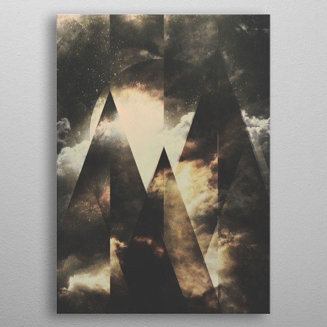 When the mountains wake up in full strenght. metal poster