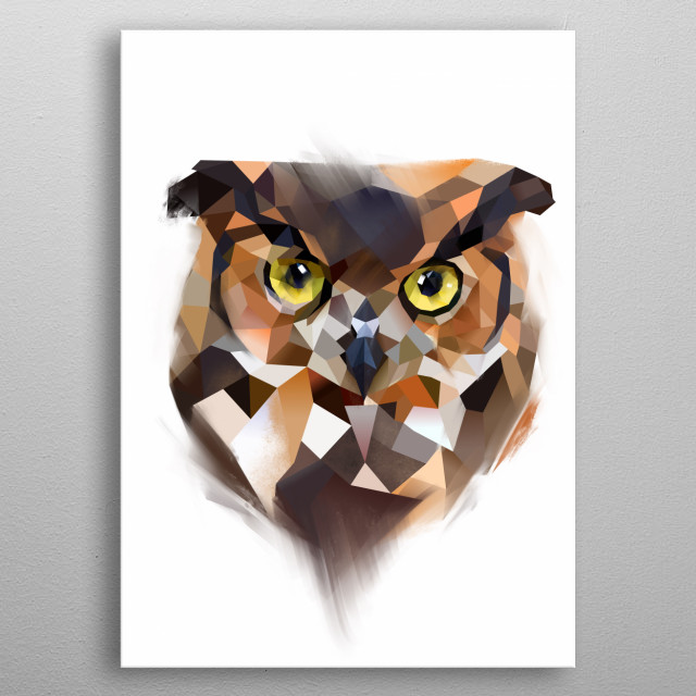 Owl from Modern Animals collection.  metal poster