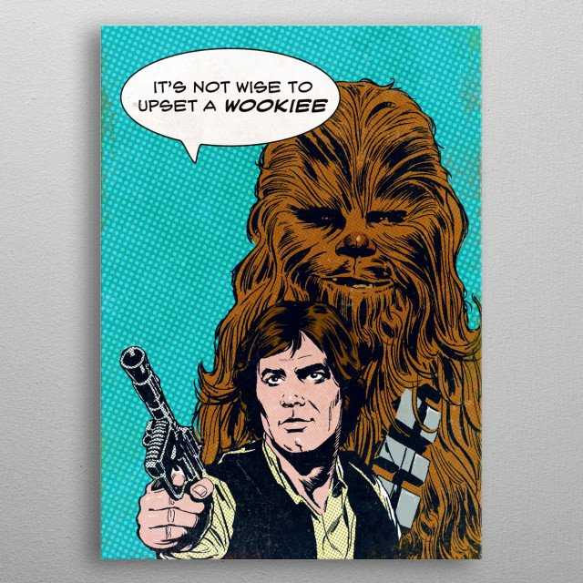 High-quality metal print from amazing Star Wars Pop Art collection will bring unique style to your space and will show off your personality. metal poster
