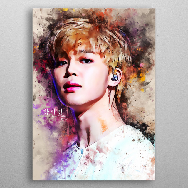 Park Ji-min, better known mononymously as Jimin, is a South Korean singer, dancer, and songwriter. He is the member of BTS. metal poster