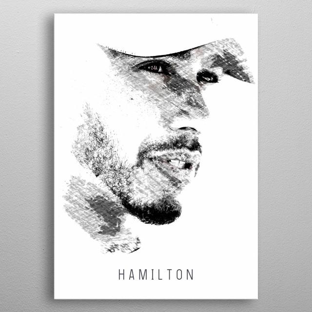 Lewis Hamilton Formula 1 racing driver and 5 time world champion. metal poster
