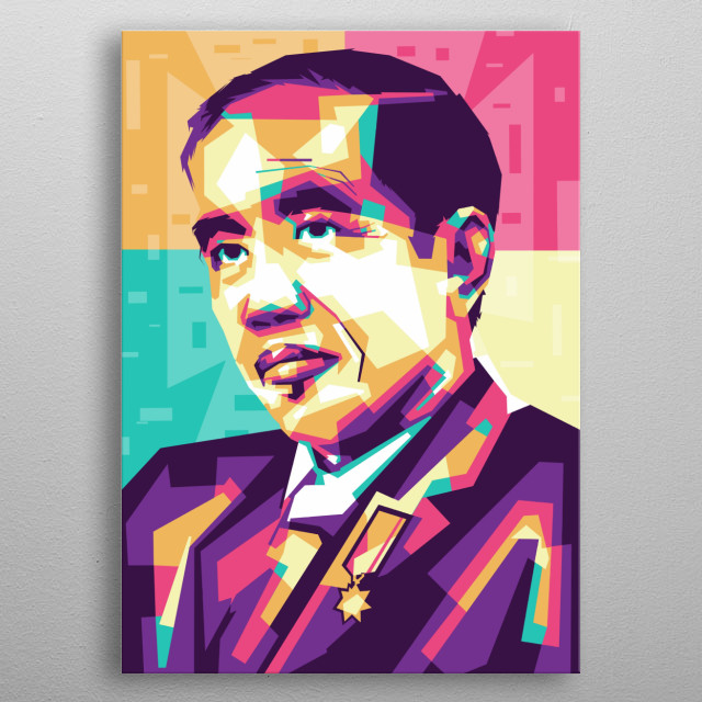 Jokowi dodo metal poster