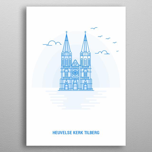 Catholic church in Tilburg, Netherlands metal poster