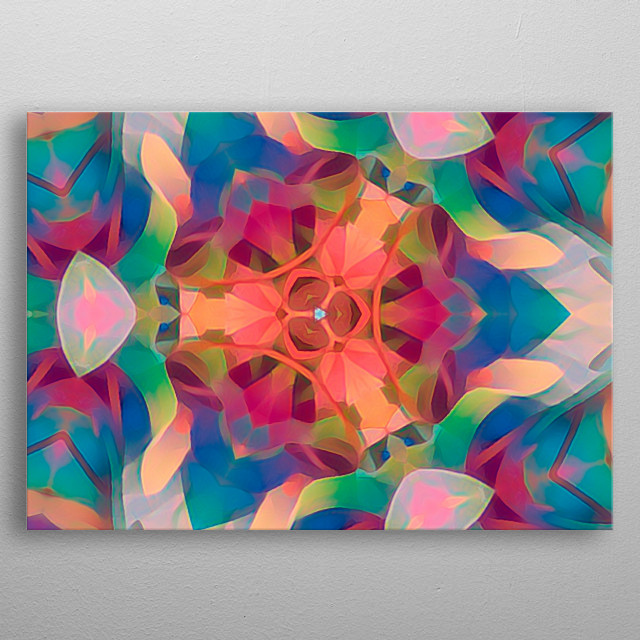 harlequin abstract colorful background metal poster