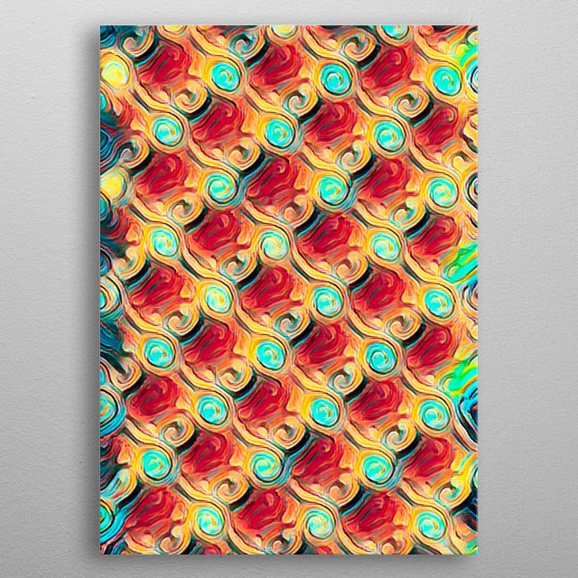 abstract pattern background for decoration metal poster
