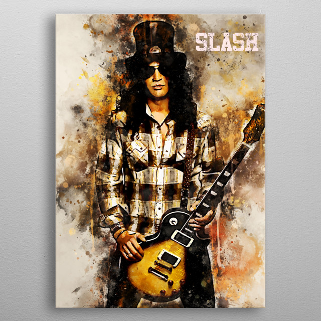 Saul Hudson better known by his stage name Slash, is a British–American musician and songwriter He is the lead guitarist of tGuns N' Roses metal poster