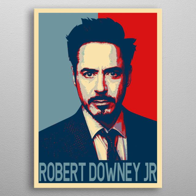 Robert Downey Jr in Hope Poster  metal poster