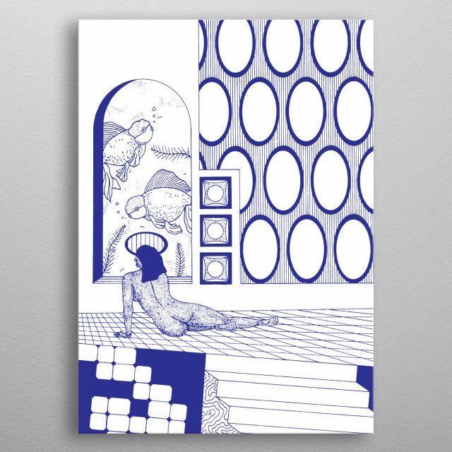 Shade of Blue metal poster