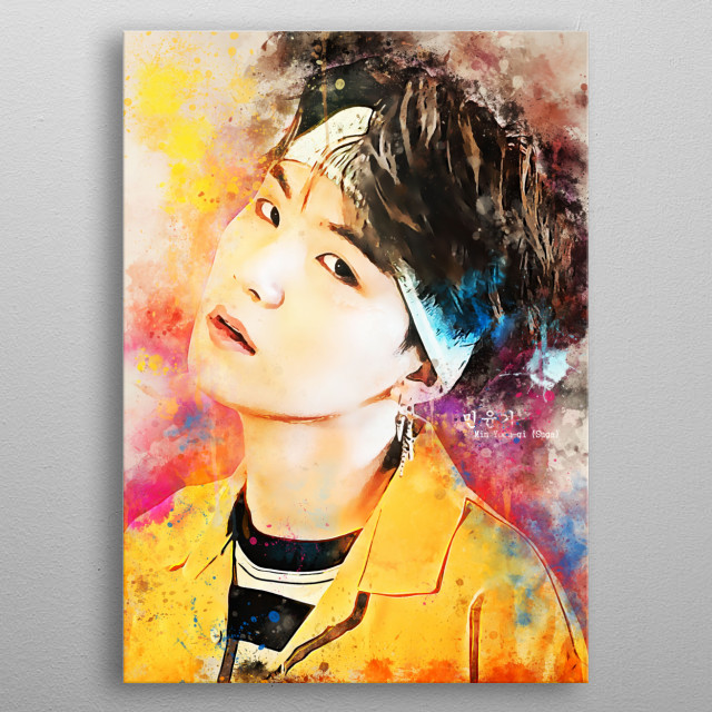 Min Yoon-gi, better known by his stage names Suga is a South Korean rapper, songwriter, he debuted as a member of BTS. metal poster