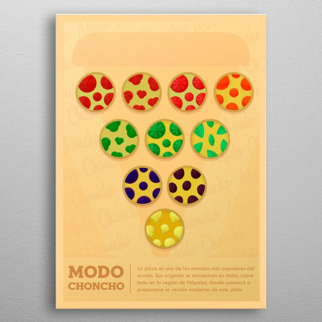 geometric and organic illustration  metal poster
