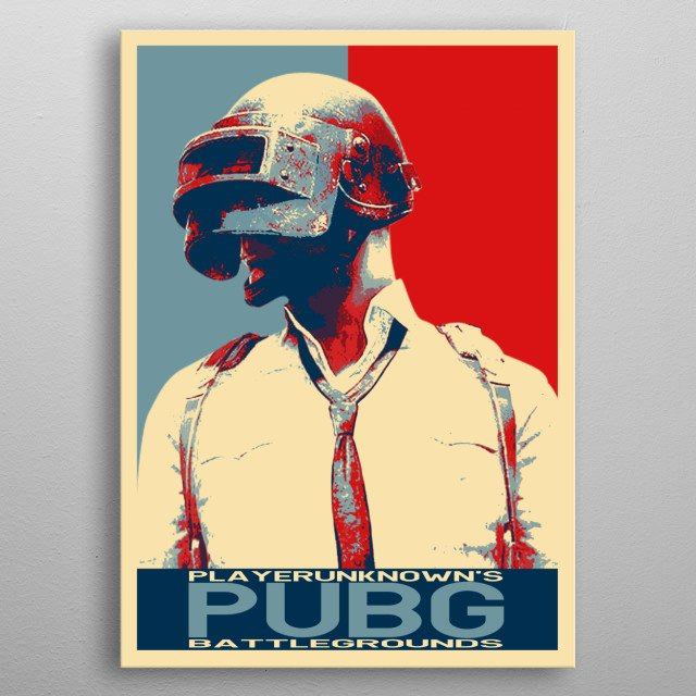 The Character PUBG in Hope Poster metal poster