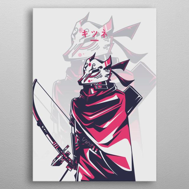Acrchery Kitsune metal poster