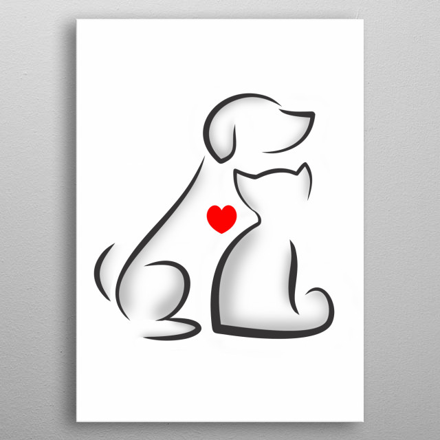 for animal lovers! metal poster