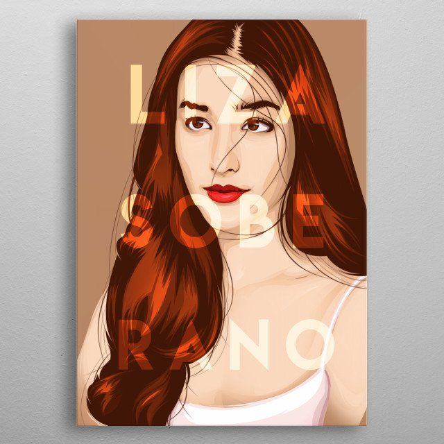 """My Own version of """"Vexelated"""" Liza Soberano Artwork ( Philippines finest female celebrity) metal poster"""