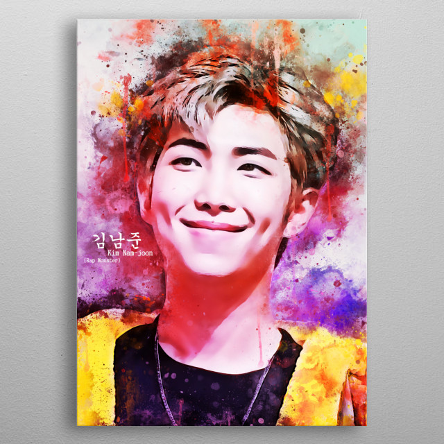 Kim Nam-joon better known as RM (formerly Rap Monster), is a South Korean rapper and songwriter, main rapper and leader BTS. metal poster