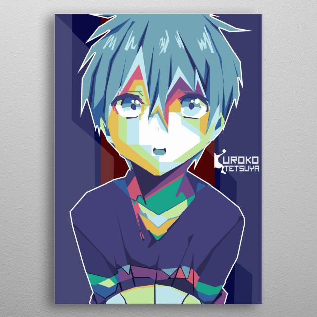 Kuroko tetsuya in WPAP ( Wedha's Pop Art Potrat) full colour metal poster