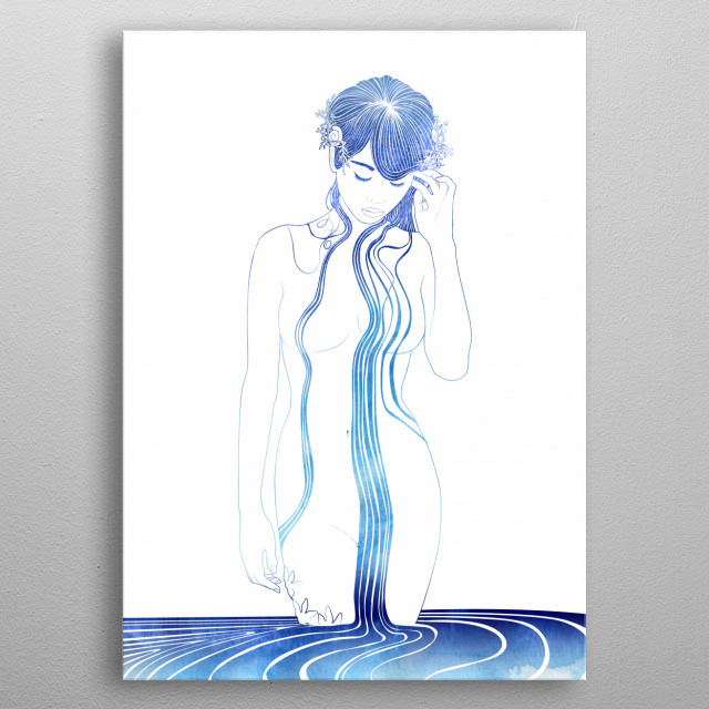 Protomedeia — Nereid of the first voyage. Also called Proto. A Nereid named first queen. metal poster
