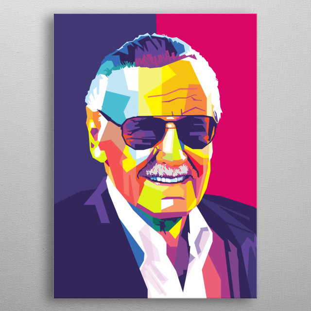 Stan Lee in wpap metal poster