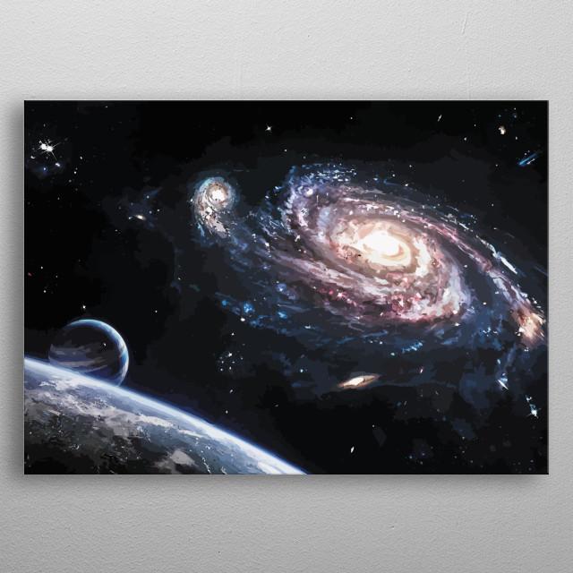 Fantastic skyview. metal poster
