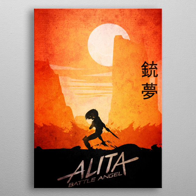 Battle angel alita  metal poster