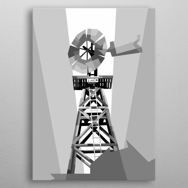 windmill, design wpap ilustration pop art metal poster