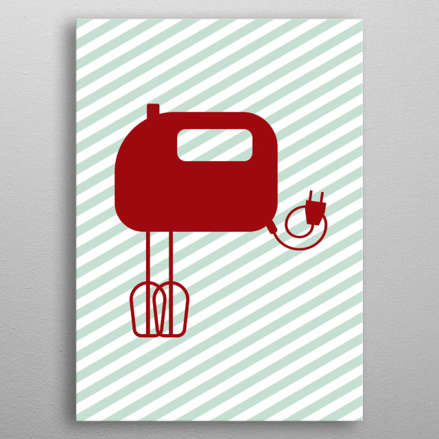 High-quality metal print from amazing Bright Kitchen Minimalist collection will bring unique style to your space and will show off your personality. metal poster