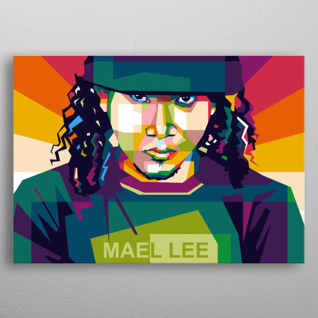 strongest thug on earth, in design colorfull WPAP  metal poster