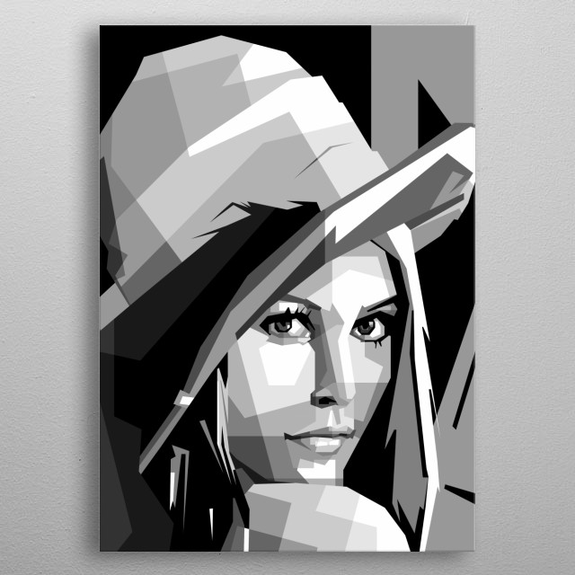 cool woman style, design ilustration pop art metal poster