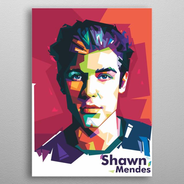 SHAWN MENDES by revez jr | metal posters - Displate