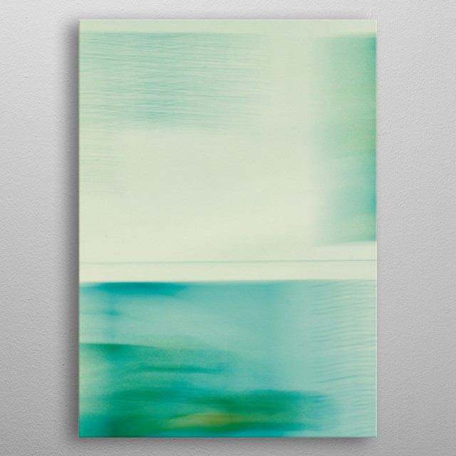 Long exposure photography of sea, sky and sand. metal poster