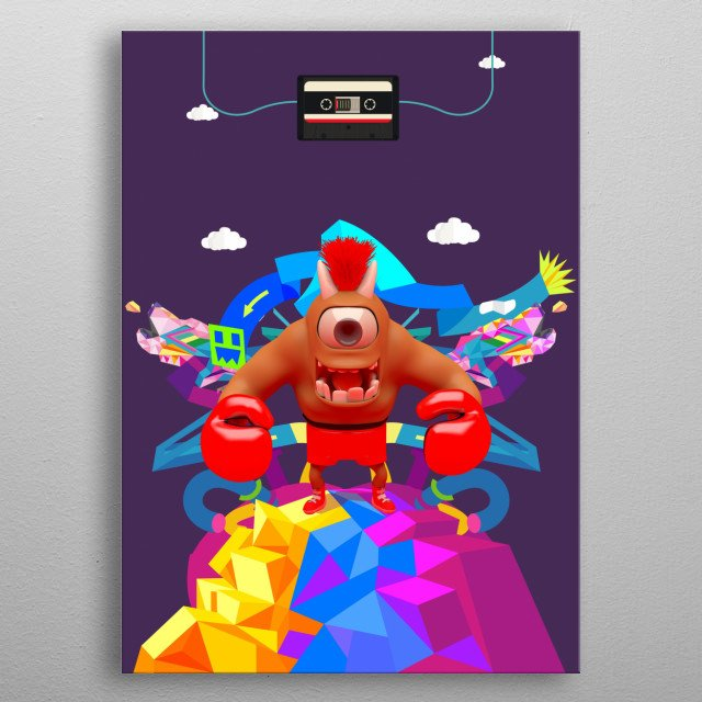 CHARACTER CREATED BY CHARLES AND DWIGHT GONZALES.  LIMA-PERU metal poster