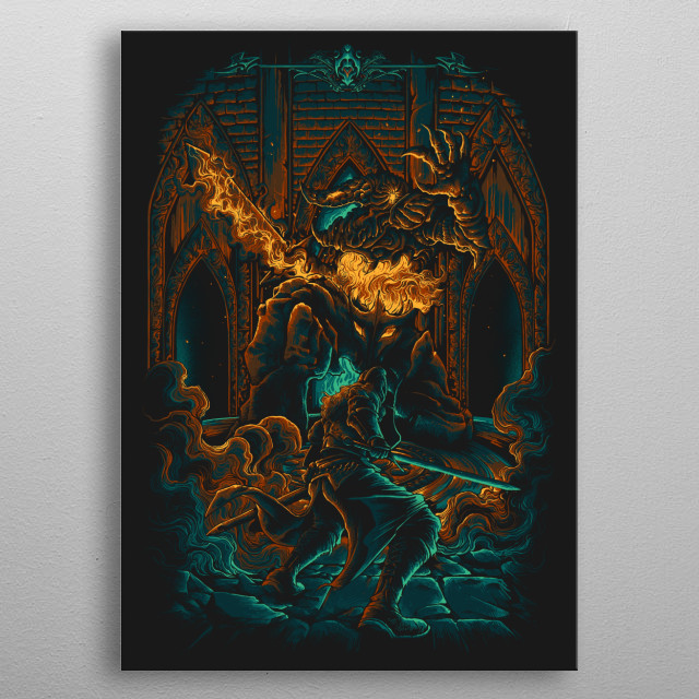 The Old Iron King's life was taken by a mass of iron that had been given a soul. metal poster