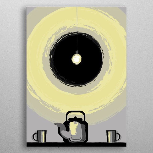 Simple things are simple things, but you can see complex thoughts in them. metal poster