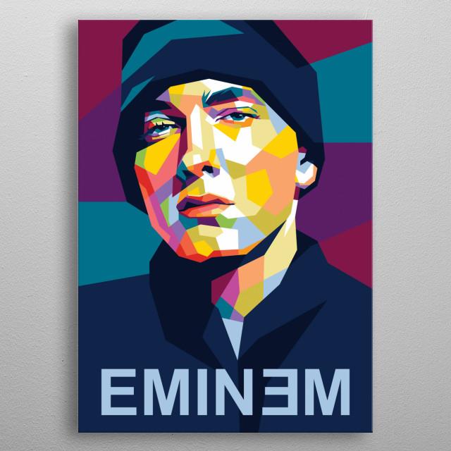 Eminem american rapper metal poster