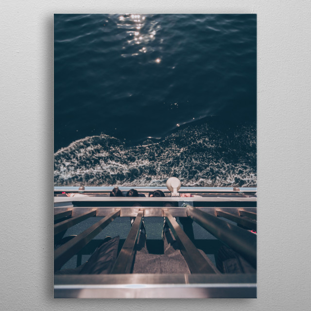 Wide snapshot of my Ferry Ride to Miyajima. Part of the Water&Toriis Collection. Check it out in full form on my profile! metal poster