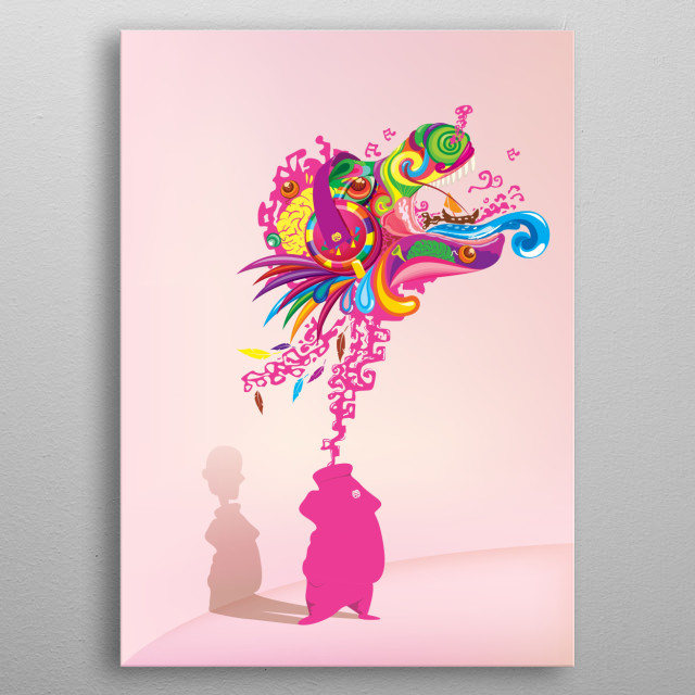 DREAMS AND MADNESSES AND ABUNDANT FANTASY metal poster